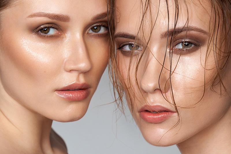 Эффект влажной кожи лица и глаз - фото