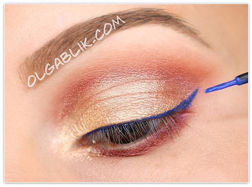 KIKO Water Eyeshadows Makeup Tutorial, Пошаговый макияж, для карих глаз, урок, фото, инструкция