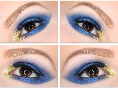 Пошаговый макияж: Lit Cosmetics Glitter Pigment Liberace S4