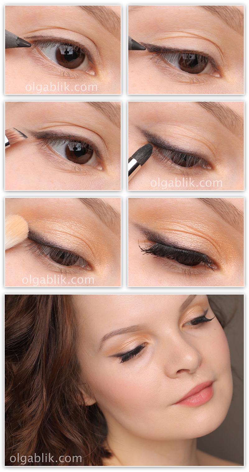 Как растушевать карандаш для глаз пошагово в