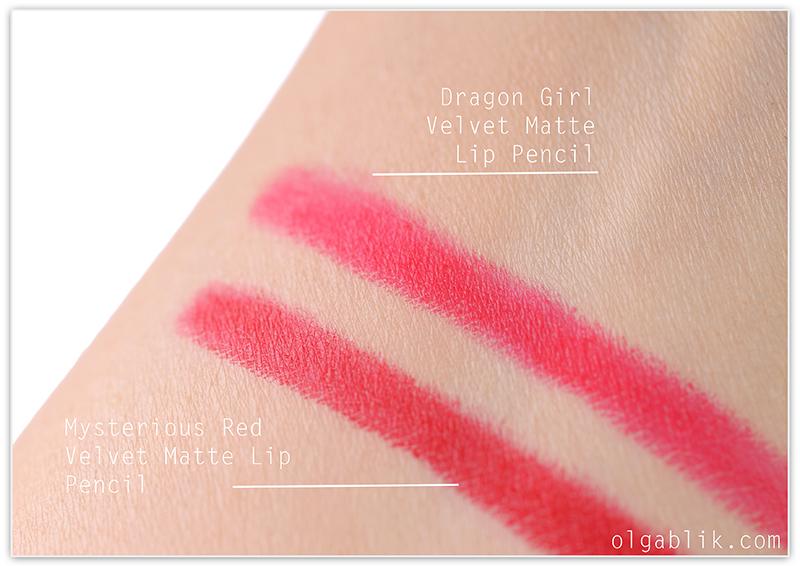 Mysterious Red Velvet Matte Lip Pencil, Отзывы, Фото, Красная матовая помада, Reviews, Photos, Swatches