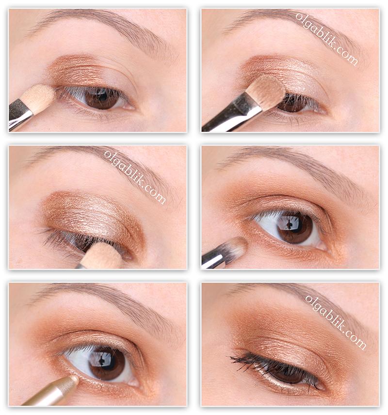 Makeup Tutorial Pupa Coral Island Vamp Compact Eyeshadow, Пошаговый макияж, Фото урок