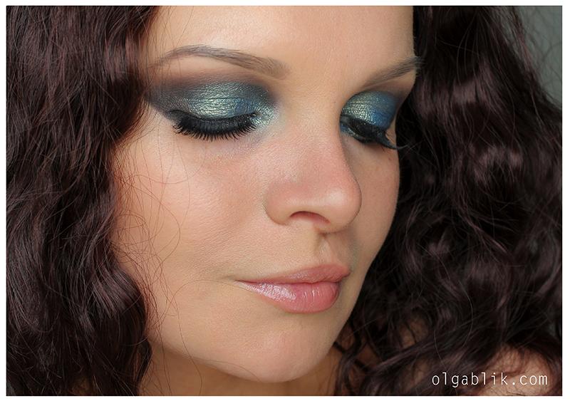 Blue-Gray Smokey Eye, Как делать Смоки Айс, Пошаговая инструкция, Для карих и зеленых глаз. Фото-урок.