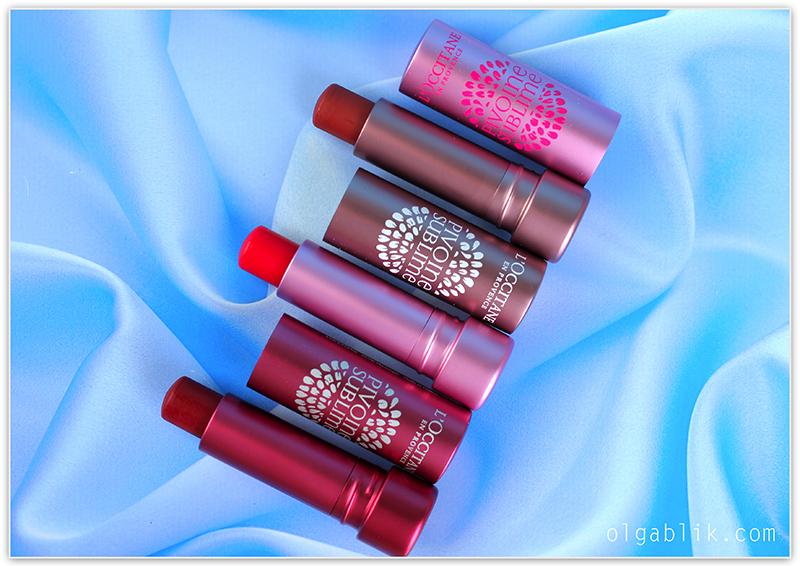 бальзамы для губ «Пион» - L'occitane Peony Tinted Lip Balm.