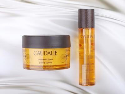 Caudalie: божественное масло и скраб для тела.