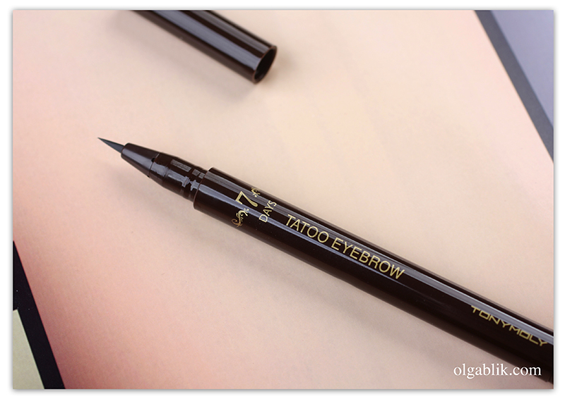 Tony Moly 7Days Tatoo Eyebrow, Подводка для бровей, Татуаж бровей, Отзывы, Фото, Тони Моли