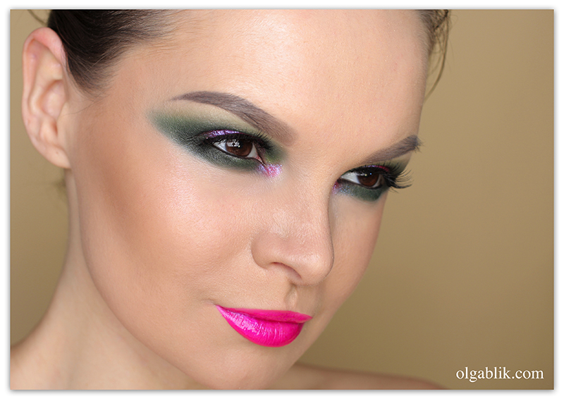 Smokey Eye Dark Green Step by step, Пошаговый макияж, Смоки айс, Фото, Урок