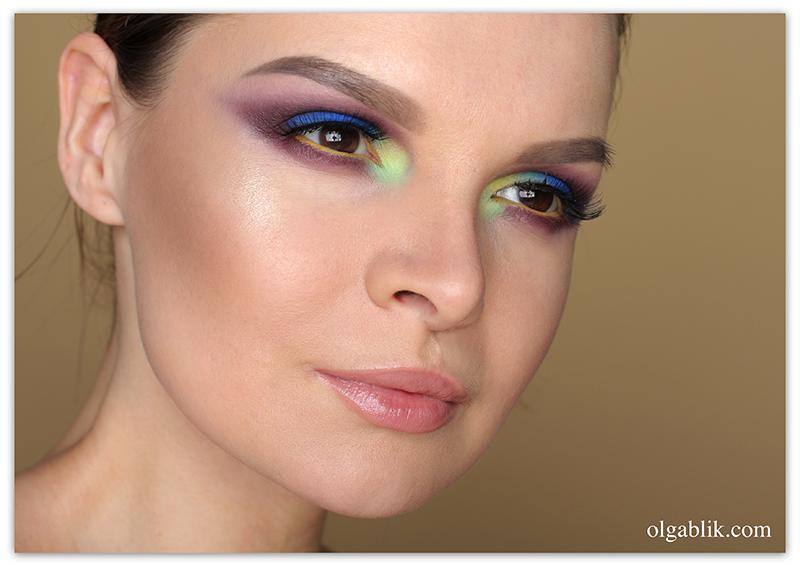 Tammy Tanuka SIGIL inspired Makeup, Пошаговый макияж глаз, Фото, Смоки айс, Цветной