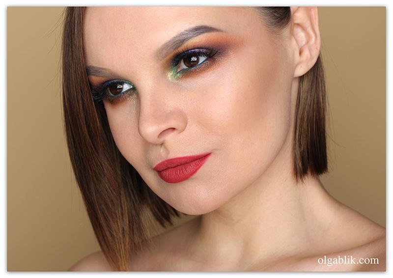 colorful-smokey-eyes-step-by-step, Цветной Смоки Айс, Пошаговая инструкция, Фото, для карих глаз