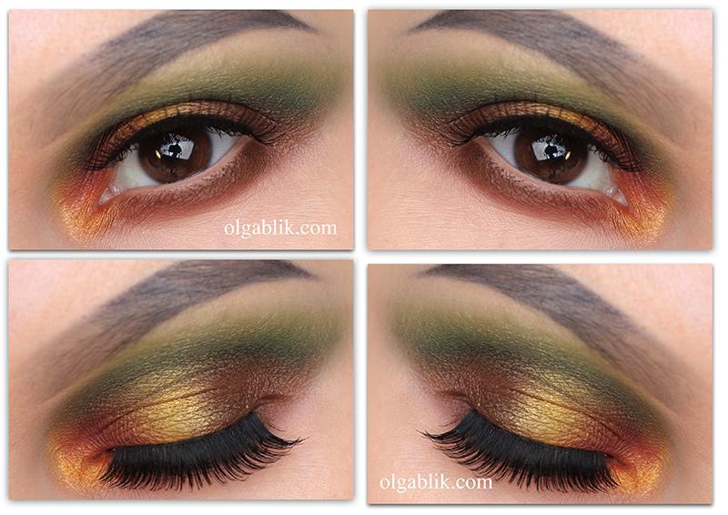Colorful Smokey Eye Makeup Tutorial, Пошаговый макияж, Смоки айс, Фото, Урок