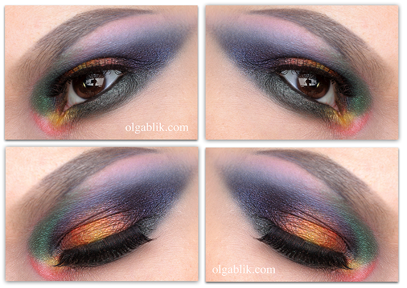 Colorful Smokey eyes, Смоки айс, Цветной, Макияж, Пошагово, Фото, Инструкция