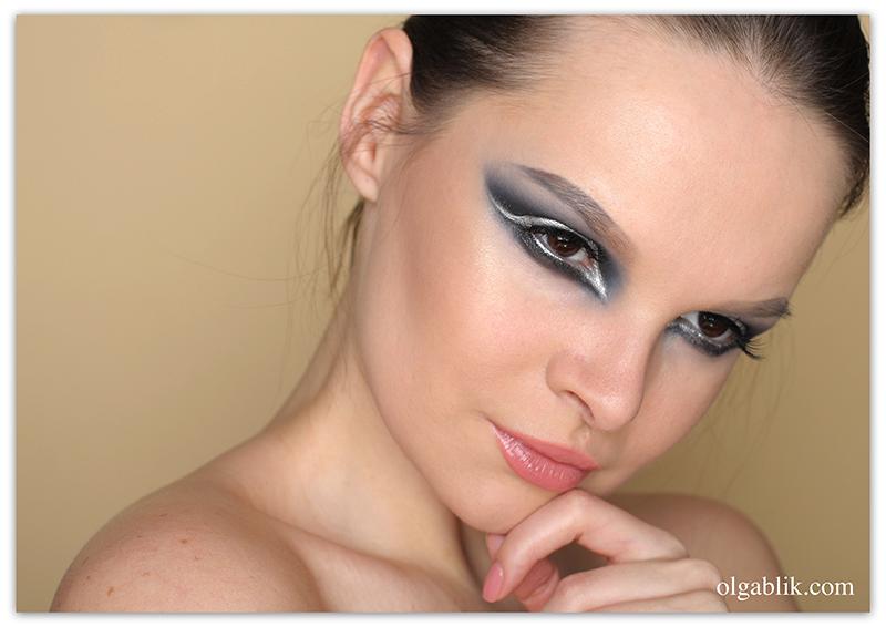 Схема макияжа для нависшего века фото 101