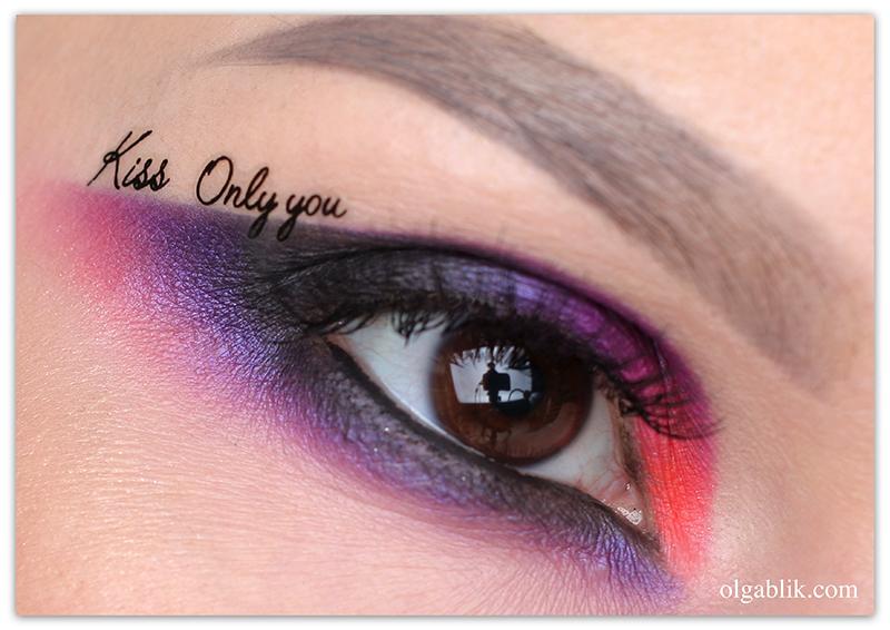 Макияж глаз на 14 февраля