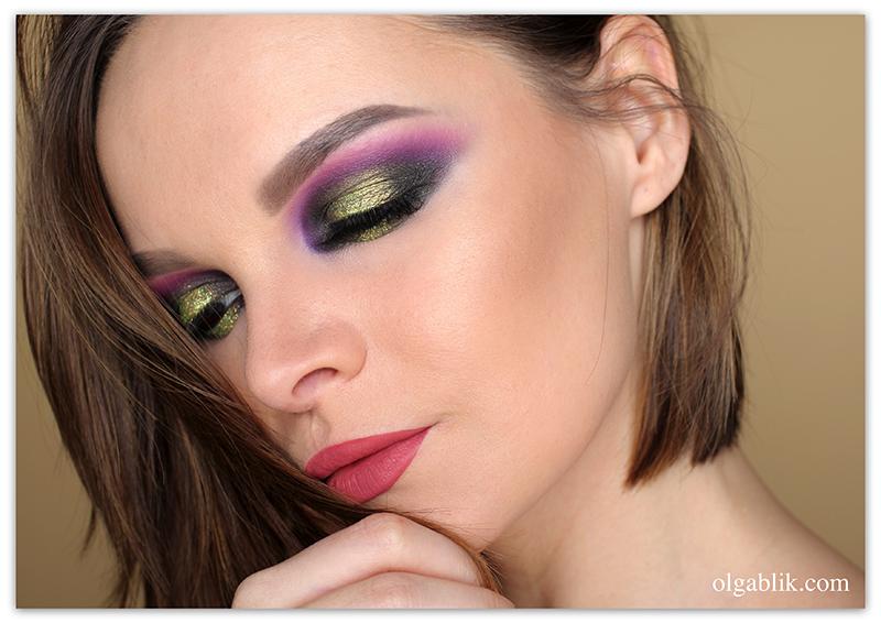 Violet Smoky Eyes Makeup, Смоки айс, Пошаговая инструкция, Цветной макияж, Фото, для карих глаз