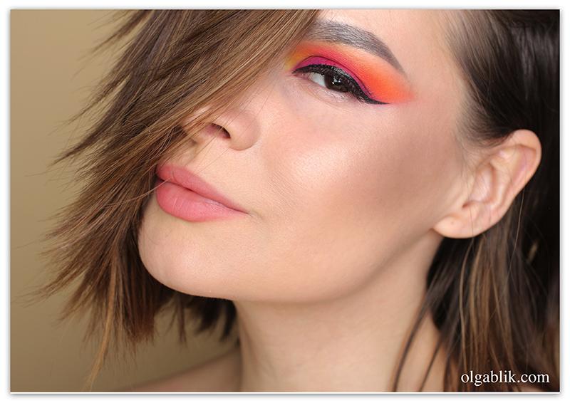 Viseart Editorial Brights Palette 08- Makeup Tutorial, Пошаговый макияж, Цветной макияж