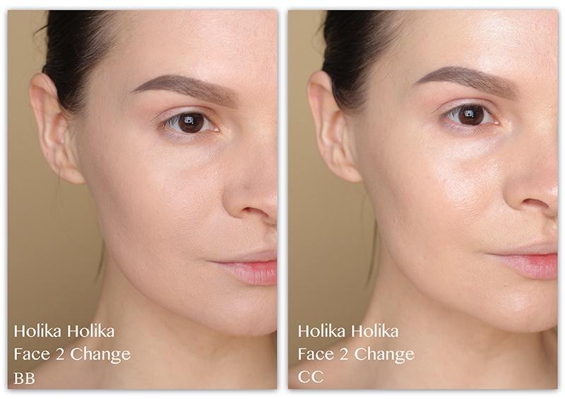 Holika Holika Face 2 Change, Отзывы, Фото, Тональный ББ крем, СС крем