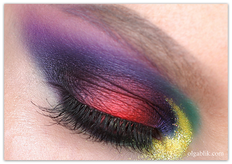 Colorful Makeup Look, Цветной макияж, Пошагово, Фото, Инструкция