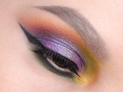 Цветной макияж глаз: комплиментарные цвета