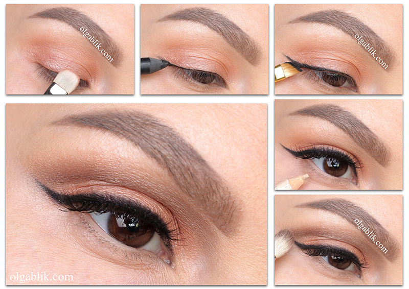 Makeup eyes, Дневной макияж глаз, Пошагово, Фото урок
