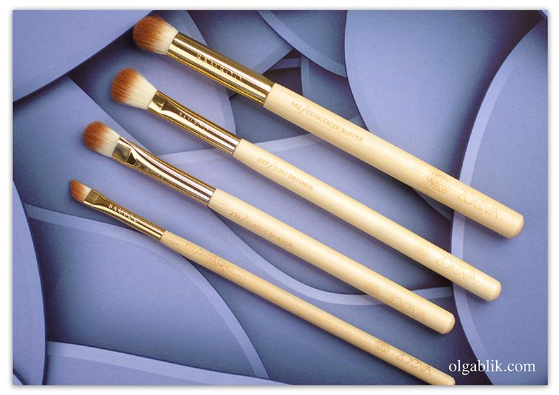 Zoeva BAMBOO Set Vol. 2, Кисти для макияжа, Набор кистей для начинающего визажиста, Отзывы, Фото