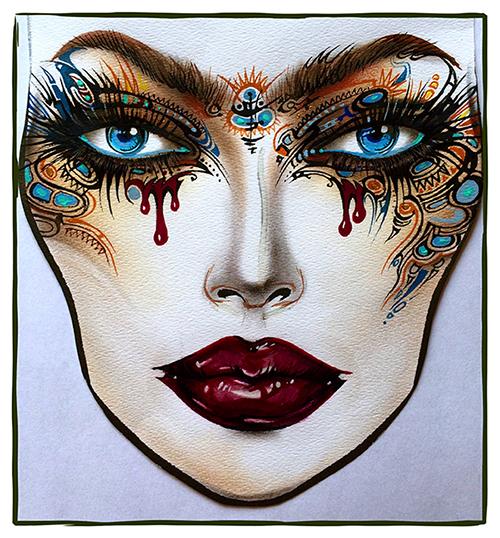 Face Chart Sergey X milk1422, Фэйс-чарт, Mac, Фото