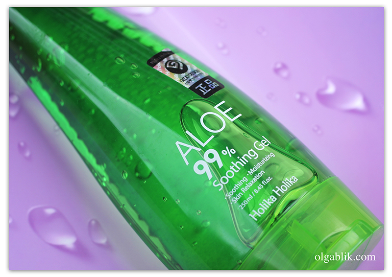 Holika Holika Aloe 99% Soothing Gel, Алое гель, Отзывы, Review, Photo