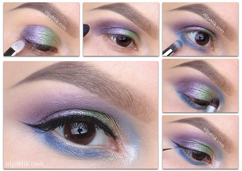 Как наносить фиолетовые тени на веки