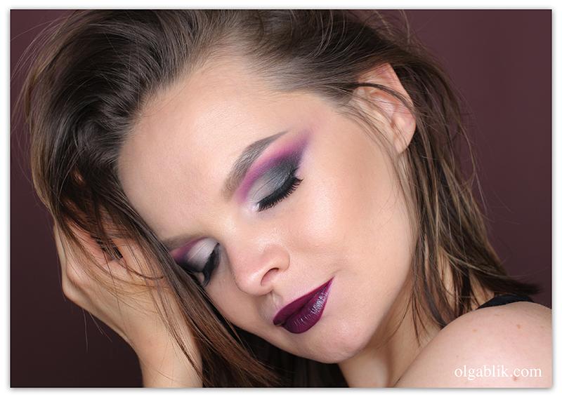 Макияж глаз в фиолетовой гамме