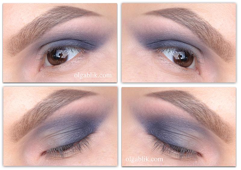 Дымчатый макияж глаз серыми тенями