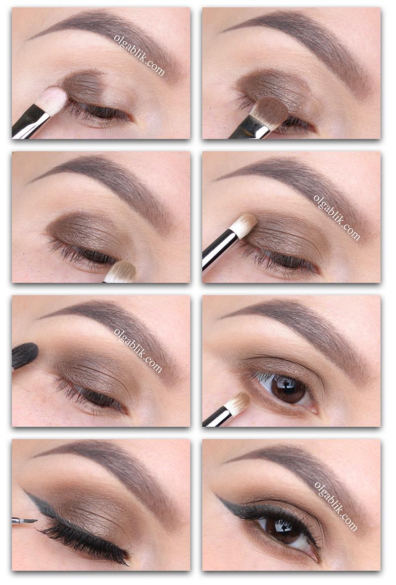 Как создать макияж с коричневыми тенями