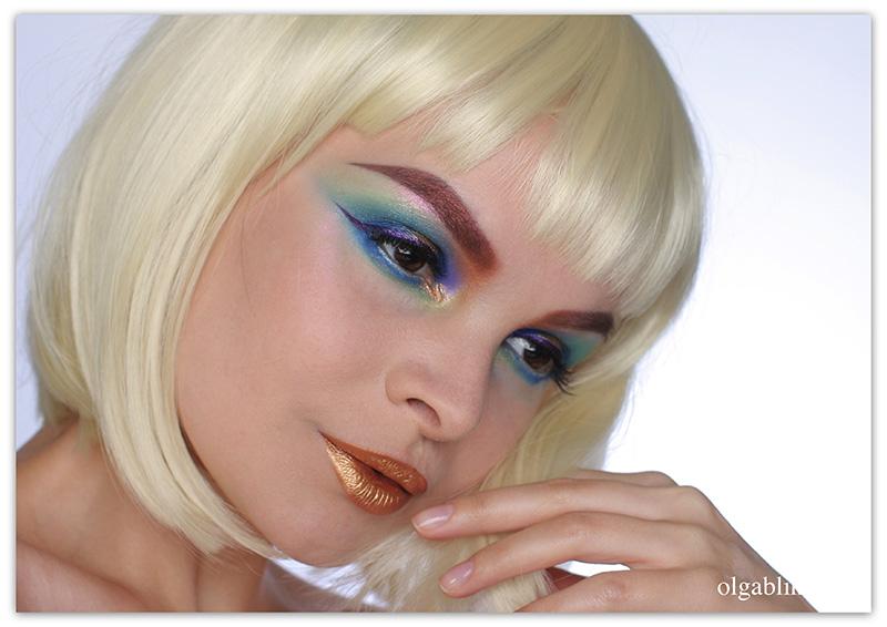 Colorful Smokey Eye Makeup, Metallik Makeup Trend 2016, Металлический макияж, Фото