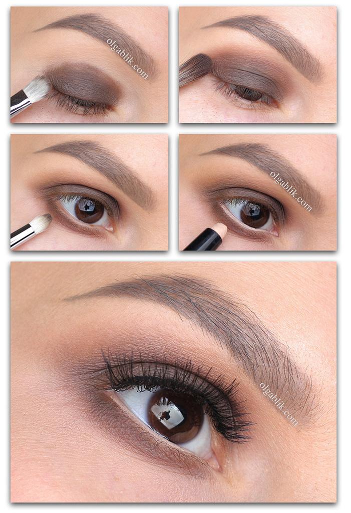 Every Day Makeup Step by step, дневной макияж глаз, Пошагово, Фото