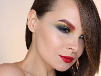 Цветные брови, как макияж будущего или…?