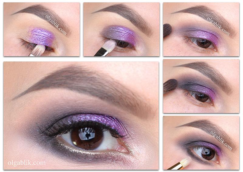 Как сделать серый макияж для карих глаз