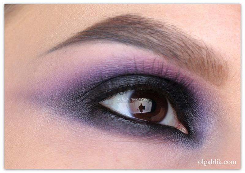 Как сделать фиолетовый Смоки айс
