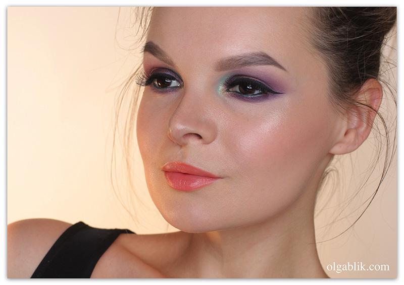 bronx-colors-city-of-angels-makeup-tutorial, Пошаговый макияж, Цветные тени