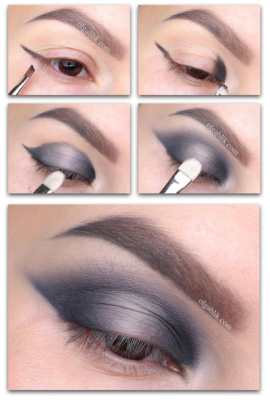 Градиентный макияж глаз