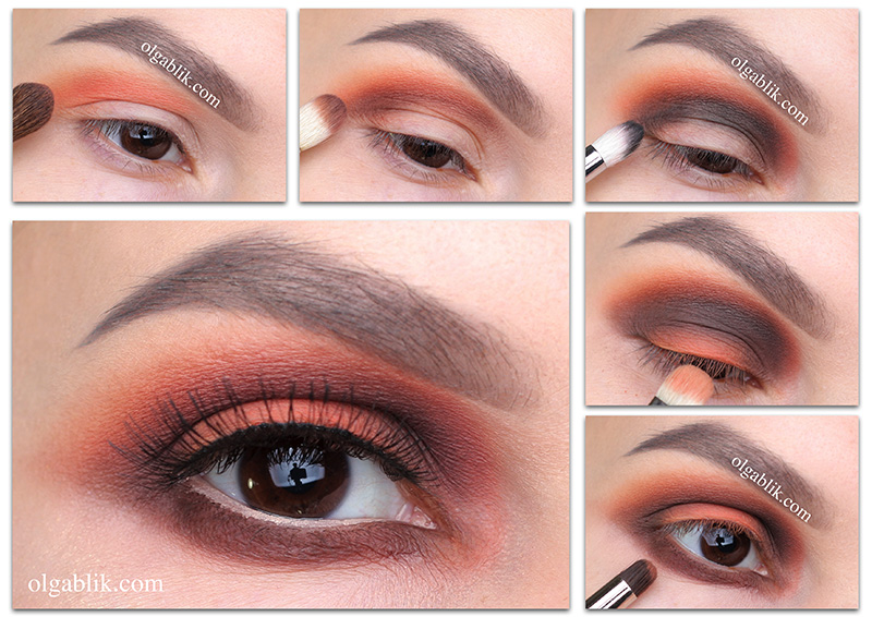матовый осенний макияж глаз