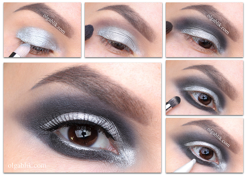 metallic-smoky-eyes-makeup, Металлические смоки айс фото пошагово