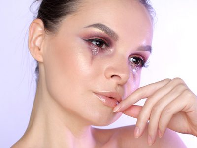 Образ «Расстройство» с Natasha Denona Eyeshadow Palette 28 Purple Blue