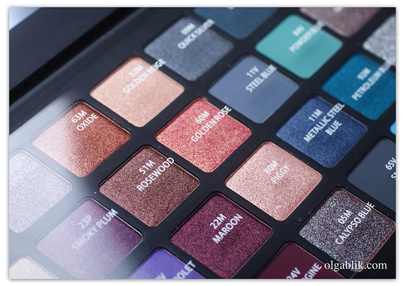 natasha-denona-eyeshadow-palette-28-purple-blue, отзывы, фото, review, photo, swaches