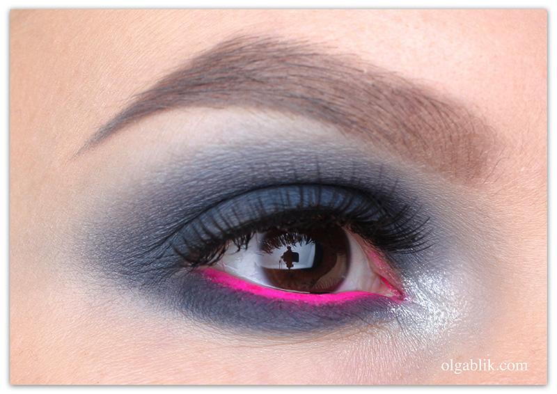 Серый макияж глаз