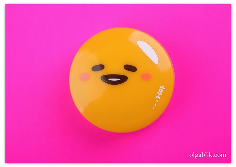 """holika-holika-gudetama-jelly-dough-blusher, Желейно-кремовые румяна """"Гудетама - ленивое яйцо"""", отзывы, фото"""