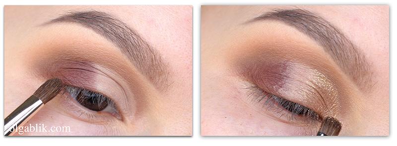 макияж с золотыми тенями
