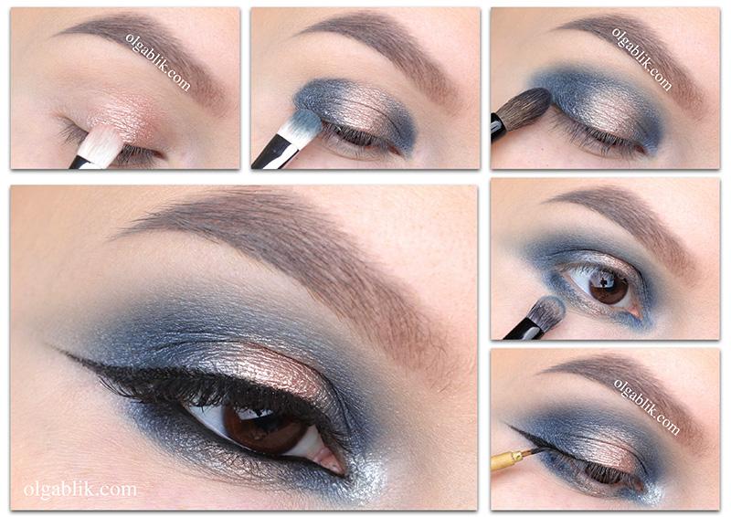 Сияющий зимний макияж глаз