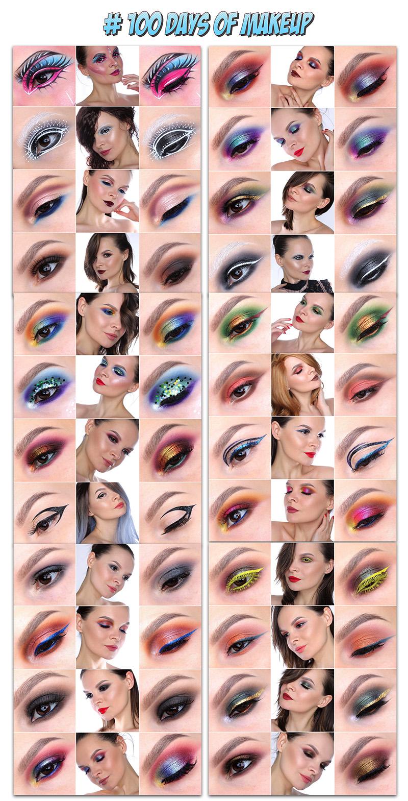100 дней макияжа