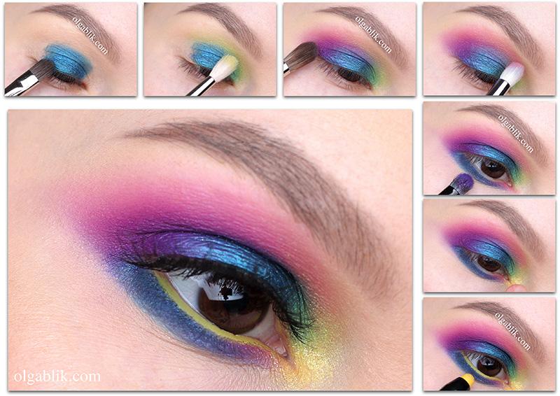 Как наносить цветные тени