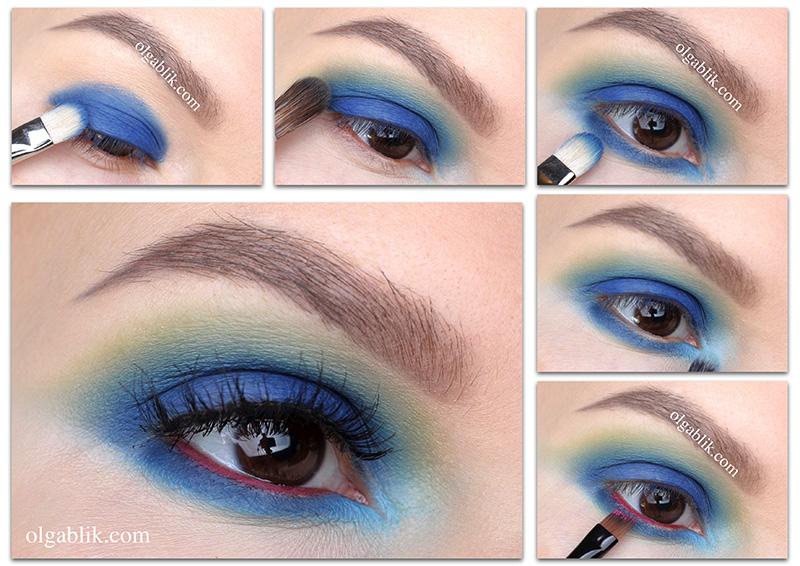 Синие Smoky eyes