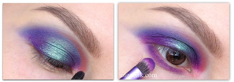 winter-makeup-tutorial, зимний макияж 2016, отзывы, фото, цветной макияж глаз