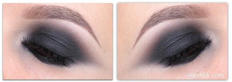 Черный макияж глаз пошагово